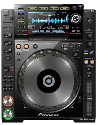 Pioneer CDJ 2000 Nexus pitch- und scratchbarer Profi DVD-CD Player mit LAN, SD, USB, Recordbox