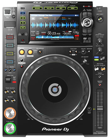 Pioneer CDJ-2000 Nexus 2 / CDJ-2000NXS2 pitch- und scratchbarer Profi DVD-CD Player mit LAN, SD, USB, Recordbox