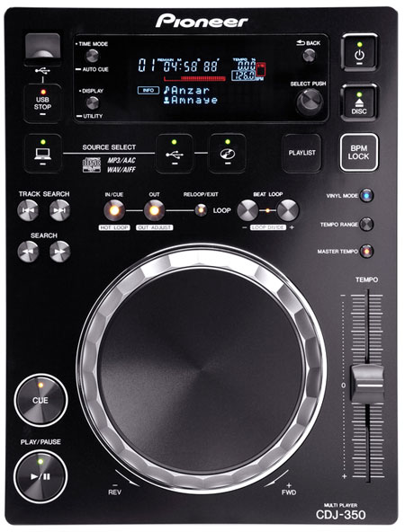 Pioneer CDJ 350 pitchbarer Profi CD Player mit USB
