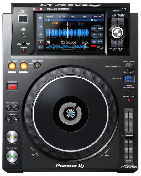 Pioneer XDJ-1000 MK2 pitch- und scratchbarer Profi MP3 Player mit LAN und Touchscreen