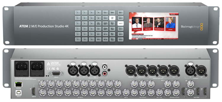 Blackmagic ATEM 2 M/E Production Studio 4K Bildmischer